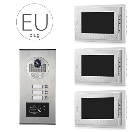 LUFA V70C 530 3 Video Türklingel Telefon Intercom IR Nachtsicht Kamera Video Monitor Türsprechregendicht ID Karte Unclocking -