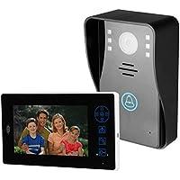 Timbre de video inteligente, sistema de intercomunicación con timbre de la cámara de seguridad HD 720P para el hogar inteligente, ángulo de visión de 120 grados, con unidad interior de 7 pulgadas
