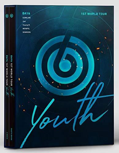 JYP Entertainment DAY6 1st World Tour [Youth] DVD +Photobook+Photocard+Postcard+Extra Photocards Set (Computer Blu Ray)