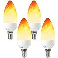 Flamme Lampe Fire Effect E12 LED Brennendes Licht Flackern Glühbirne Decor