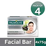 Palmolive Skin Therapy Facial Bar with Charcoal Powder - 75g (Pack of 4)