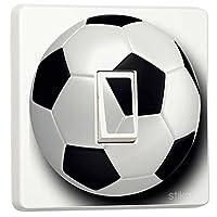stika.co Football Design, Pretty Light switch decoration stickers, Flower, Animal, Nature, Sport Designs, Home Decorative Accessories (white vinyl)