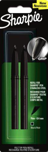 sharpie-pen-stainless-steel-refill-fine-tip-black-pack-of-2