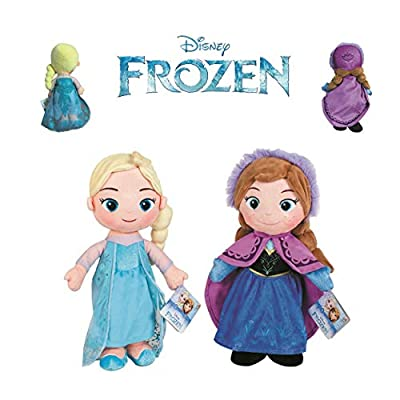 Disney - Pack 2 Princesas de Frozen - Elsa + Anna 30cm Calidad Super Soft por DSNEY