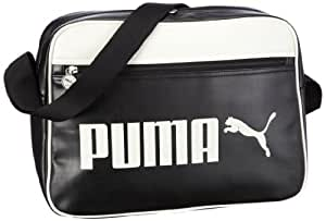 PUMA Umhängetasche Campus Reporter, black-whisper white, 14 liters, 069917 01