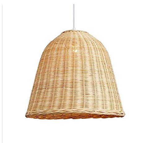 Light Click To Open Expanded View Ceiling Lampshade Lighting Chandelier Hand Weaving Wicker Rattan Basket Shade Pendant Lighting Fixture Rustic Asian Hanging Ceiling Lamp Restaurant Bar E27 E26 Bulb -