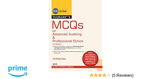 Buy MCQs on Advanced Auditing & Professional Ethics (January