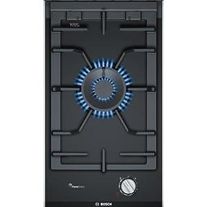 Bosch PRA3A6D70 Serie I 8 – Placa de cocina de gas de 30 cm de ancho, tecnología FlameSelect, cristal vitrocerámico y…