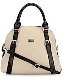 Beau Design Women's Sling Bag - Cream And Black