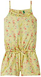 United Colors of Benetton Girls Overalls, Dungarees and Rompers (15P4MU2580B0G902L_Lemon Yellow_8 - 9 years)