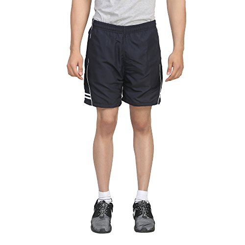 Trendy Trotters Men's Sports Shorts-TTJ1SHORTS_AD_BLACK_WHT_L