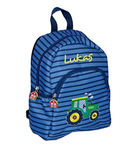 *Spiegelburg 15417 – Traktor Kindergarten-Rucksack mit Namen Bestickt*