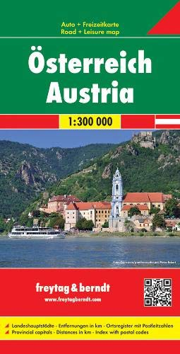 Österreich, Autokarte 1:300.000, Ostfalzung: Wegenkaart 1:300 000 (freytag & berndt Auto + Freizeitkarten)