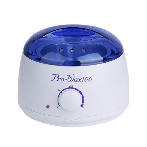 Vinteky® 500ml Chauffe à cire/Wax Warmer pour Épilation à la Cire/ Hot Waxing Pot Chauffe-cire Waxer Kit Epilation à La Cire Chaude/ Réchauffeur de cire d'épilateur de soin de réchauffeur de cire,épilation professionnelle de contrôle de température futé (Blanc)