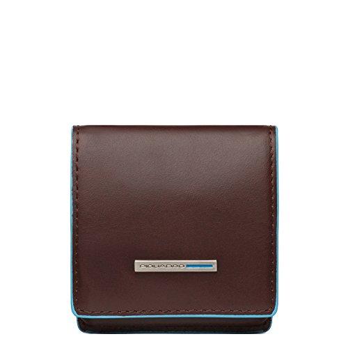 Piquadro PU2634B2 Portamonete, Collezione Blu Square, Mogano