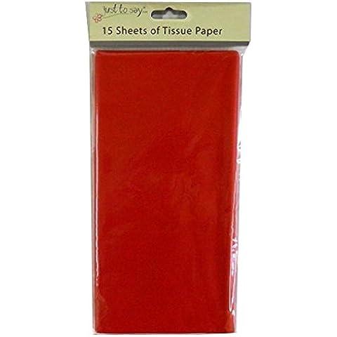 Colorato Misura grande–Rosso–15fogli di carta velina–680mm x