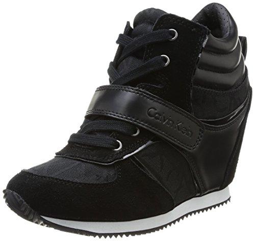 Calvin Klein Jeans Viridiana, Baskets mode femme Noir (Bbk)