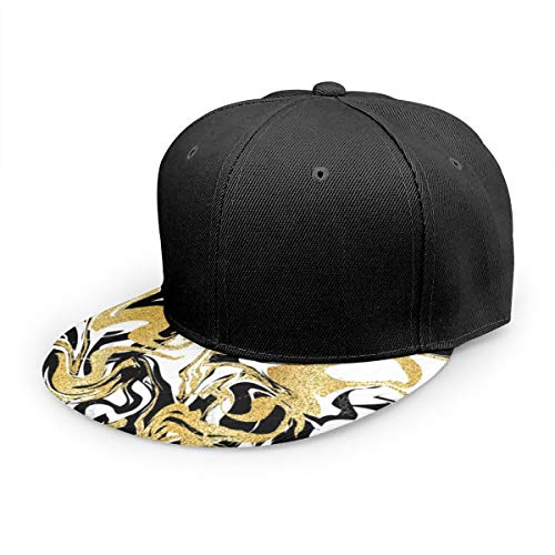 Wfispiy Gorra Plana Mármol Abstracto Fondo Gorra de béisbol clásica Sombrero de papá 100% algodón Tamaño Ajustable Suave
