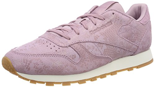Reebok Damen Classic Leather Fitnessschuhe, Mehrfarbig (Exotics/Infused Lilac/Chalk 000), 39 EU