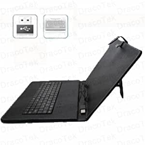 Synthetic Leather Case with USB Keyboard for 9.7 Inch Android Tablet PC (4:3 ratio)