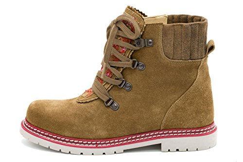 Spieth & Wensky Damen Trachtenschuhe Boots Ingwer Braun Rot Gr.36