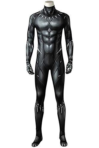 Xiemushop Cosplay Kostüm Rollenspiel Overall Kostüm Cosplay für Herren Siamesische Kleidung (Black Panther Kostüm)