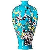 SLH Azul Chino Sala de Estar Decoraciones artesanales pintadas a Mano Botella de Porcelana jingdezhen jarrón