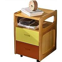 Preisvergleich für Small coffee table Haushalts-Feste Holz-Möbel-Nachttisch-Multifunktionsschließfach-Sofa-Beistelltisch, einfach, Fächer zu säubern, passend für Schlafzimmer/Wohnzimmer,36.5 * 40 * 57CM