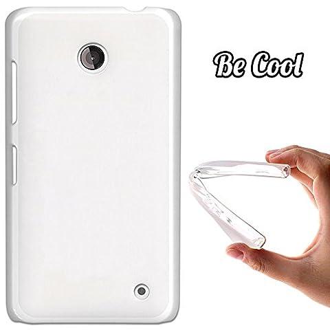 German Tech ® D8- Coque Etui Housse en GEL Flex Silicone TPU Nokia Lumia 630 635, Carcasse TPU fabriquée avec la meilleure Silicone, protège et s'adapte a la perfection a ton Smartphone et avec notre design exclusif - Transparent matte.