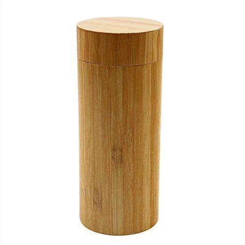 hunulu Fashion Rund Herren Frauen handgemachte Bambus Holz Sonnenbrille Box Rahmen Hartschale Brillenetui