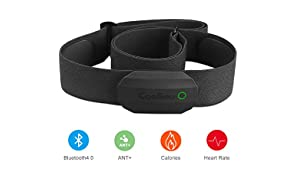 CooSpo Bluetooth Heart Rate Monitor Chest Strap Sensor ANT+ IP67 Waterproof Compatible with Garmin Wahoo DDP Yoga Vzfit