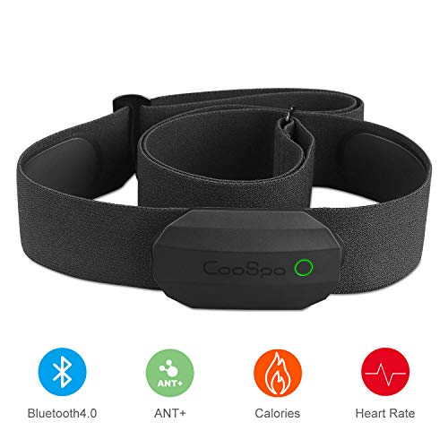 CooSpo Banda Frecuencia Cardiaca Monitor Frecuencia Cardiaca Sensor de Frecuencia Cardiaca Bluetooth 4.0 Ant+ Compatible con Aplicación de Gimnasia, Garmin, Equipamiento del Gimnasio