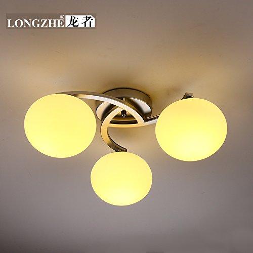 DYBLING Creative Soggiorno Camera da letto semplice e moderna sala da pranzo lampade a soffitto,3 (Metallo Acciaio Testata)