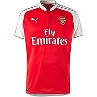PUMA Arsenal F.C.-Pallone da calcio da uomo, Replica Home Shirt-Maglietta con Logo dello Sponsor rosso  Red - High Risk Red/White/Victory Gold XXXL