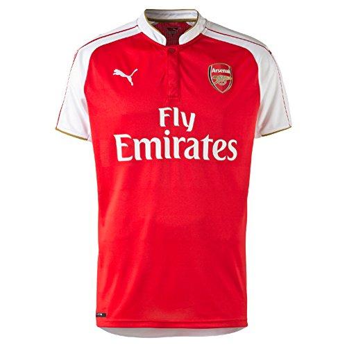 fa4a9d7c771 Puma Arsenal FC Men s Football Home Shirt Replica with Sponsor Logo Red  High Risk Red
