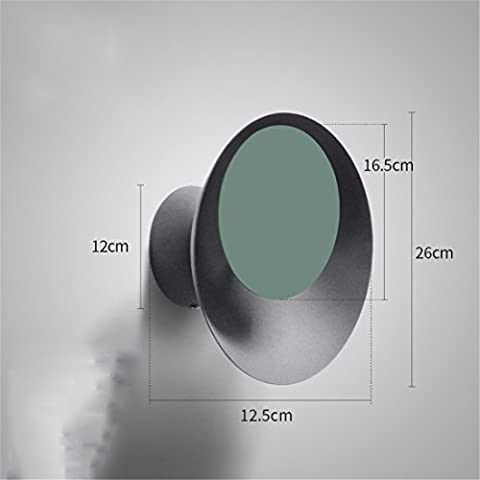 Christmas decorations 7W LED modern circular creative living room wall banquette and a bedroom bed penumbral eclipse of the staircase wall lights, Gray + Green