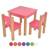 Kindertisch mit 2 stühle - 3 tlg. Set: Sitzgruppe für