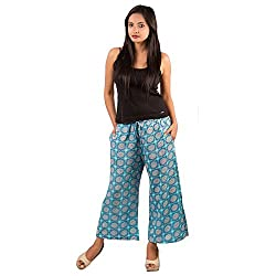 Goodwill Impex Womens Casual Wear Printed Palazzo Viscose Trouser_GW-020-L_Large