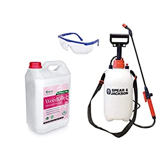 RHS 5L Weed killer | Added 5L Pump Sprayer | Safety Glasses | Advanced Glyphosate Free Formula | Effective within 24 h |