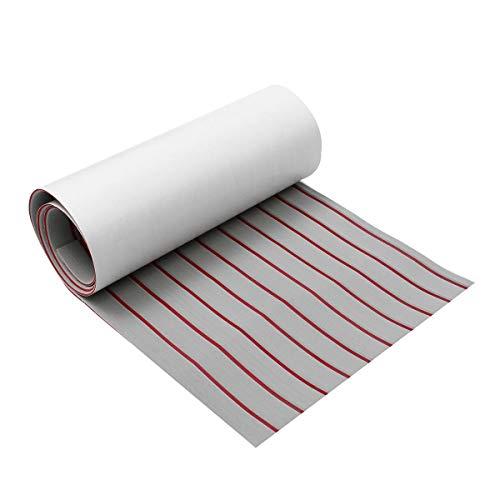Dream Edge Traumrand Boot Blatt Grau + Red Line 5 mm Dicke Upgrade-Self Adhesive Eva-Schaum Synthetische Teak Deck Imitation Teak (Größe : 600x2400x5mm)