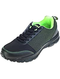 Pro (from Khadims) Mens Black Fabric/Textile Casual Dress Sneakers