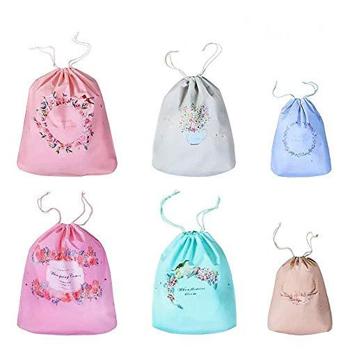 12 Pezzi Ragazze organizzatore di imballaggio Sacchi di tracolla per il viaggio, viaggio di cartone animato Essential Luggage Shoe Bag Cosmetici Valigia Bagaglio Bagagliaio sacchetto