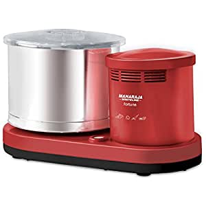 Maharaja White Line Wet Grinder Fortune 150-Watt Mixer Grinder (Cherry Red)