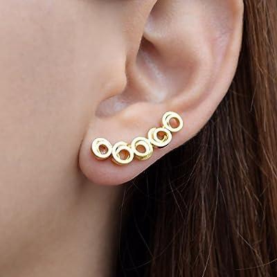 Minimaliste grimpeurs d'oreilles, Boucles d'oreilles en or, manchettes d'oreilles en argent sterling, manchettes hypoallergéniques