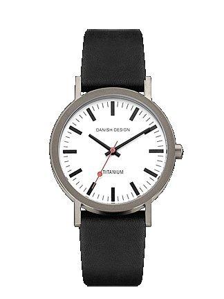Danish Design Gents Titanium Brushed Black Adjustable Strap Watch
