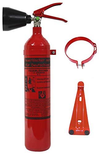 NEU 2 kg CO2 Kohlendioxid Feuerlöscher DIN EN 3 GS + Wandhalterung, Kohlensäure Löscher für EDV Küche Haushalt Gastro Hotel