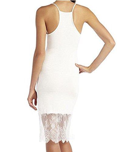 JOTHIN - Robe - Cocktail - Femme blanc Drucken XXL Weiß
