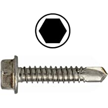 Bohrschrauben DIN 7504 K 4,8mm Edelstahl V2A Sechskant  Blechschrauben VA