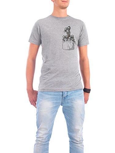 "Design T-Shirt Männer Continental Cotton ""Pocket Koala Bears"" - stylisches Shirt Tiere Natur Kindermotive von BekaDesigns Grau"