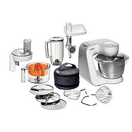 Bosch Elettrodomestico MUM54240 Macchina da Cucina, 900 W, 1.25 Litri, Bianco